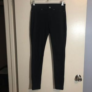HUE black tights, stretchy, size small